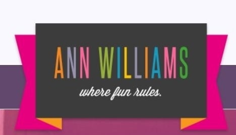 Ann Williams coupon code